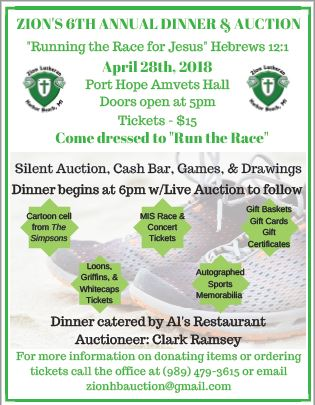 Zion's Dinner & Auction 2018